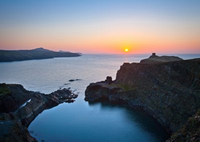 Blue Lagoon at sunset, Abereiddi