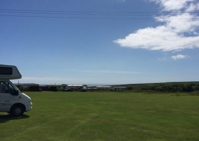Wide open spaces on the camp ground at Llanungar