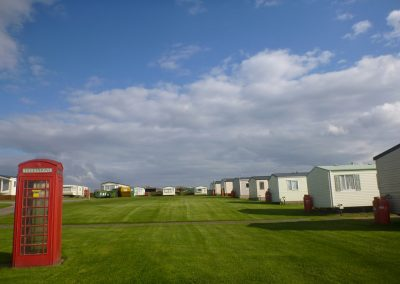 Llanungar caravan park from the entrance