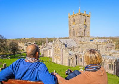 Admiring St Davids Cathedral