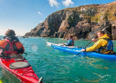 Sea kayaking near Solva and St Davids