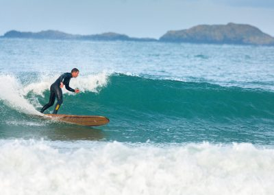Surfing at Whitesands