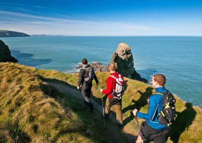 Walkers on the coast path