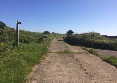 Reaching the coastal path from Llanungar