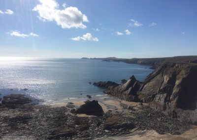 Aber Llong looking West towards Ramsey Island