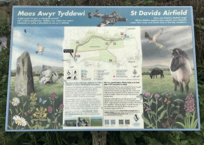 Signage at St Davids Airfield