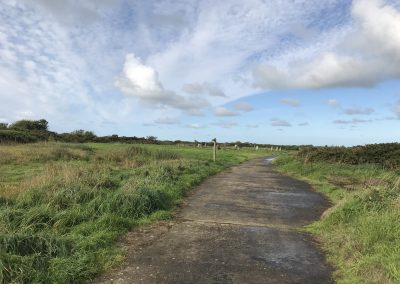 Stone circle and path markers at St David's Airfield