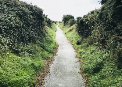 Public path at St David's Airfield