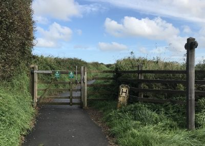 Entrance gate from Llanungar, St David's Airfield