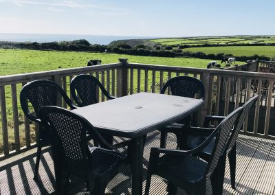 Outdoor seating area, Skomer View