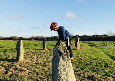 Climbing stones, St David's Airfield