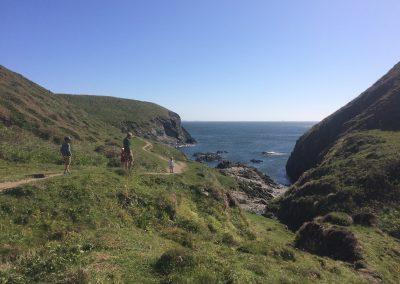 The coast path and Porth y Rhaw